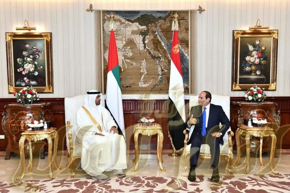 وصول سمو الشيخ محمد بن زايد آل نهيان ولى عهد أبو ظبي إلى القاهرة.