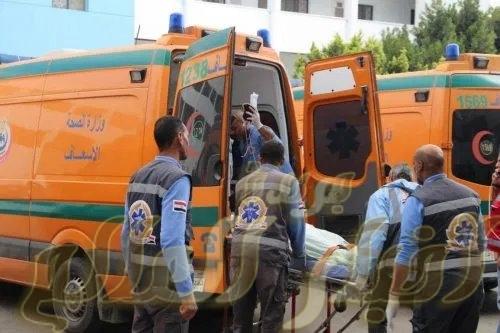 اصابة 3 اشخاص فى حادث تصادم مكروباص ودراجة بخارية فى سوهاج
