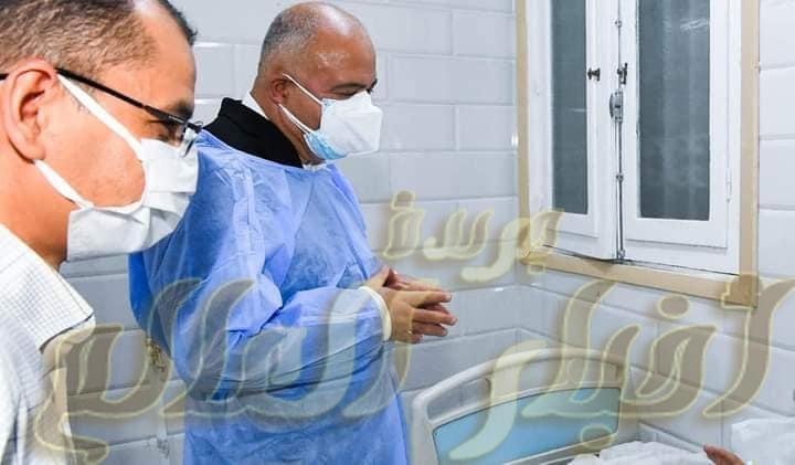 محافظ قنا يفاجئ مستشفي الحميات للاطمئنان علي مستوي الرعاية الصحية لمرضي كرونا
